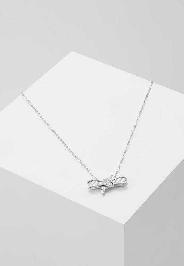 DAMEKA RIBBON BOW PENDANT - Smykke - silver-coloured