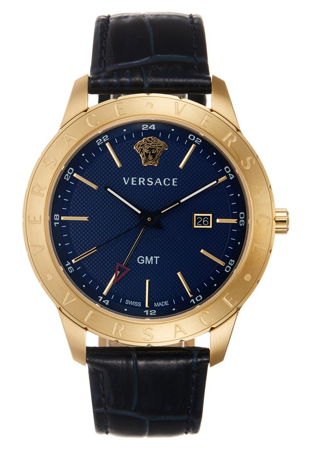 UNIVERS - Watch - darkblue/gold-coloured