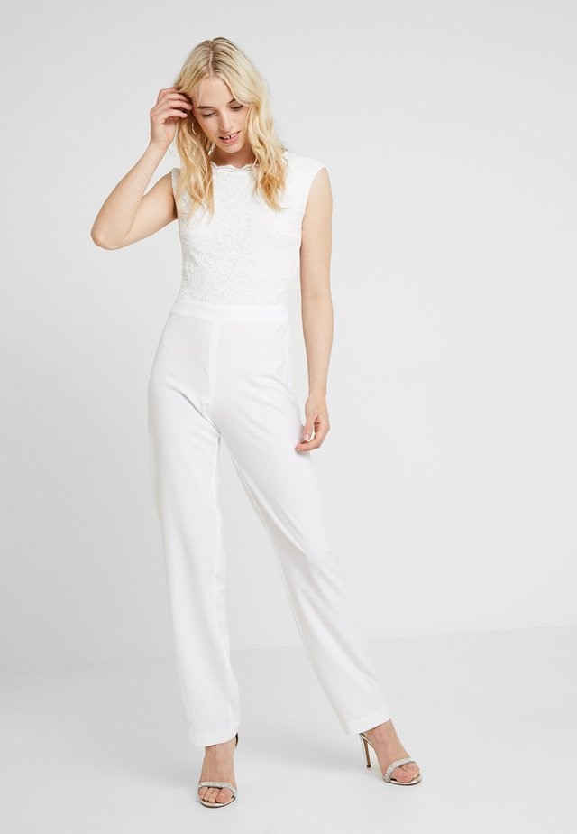 Jumpsuit - cremeweiss