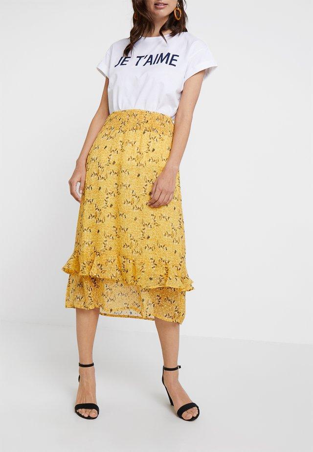 DIMITRA SKIRT - A-line skirt - yellow