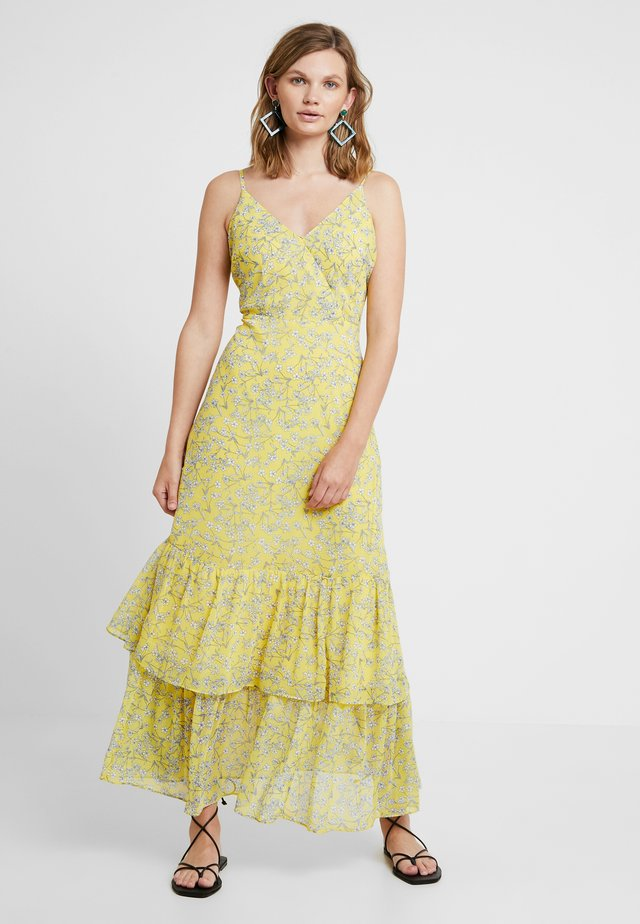 PRINTED TIERED - Maxi dress - yellow