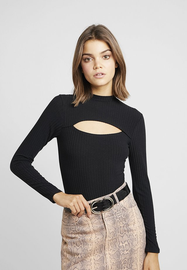 CUT OUT - T-shirt à manches longues - black