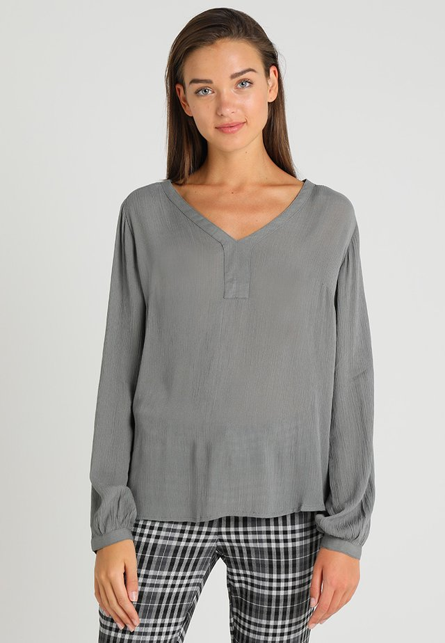 AMBER BLOUSE - Túnica - smoked pearl