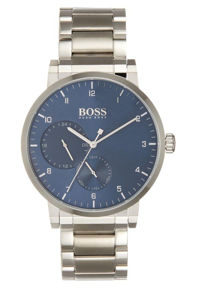 OXYGEN - Reloj - silver-coloured/blue