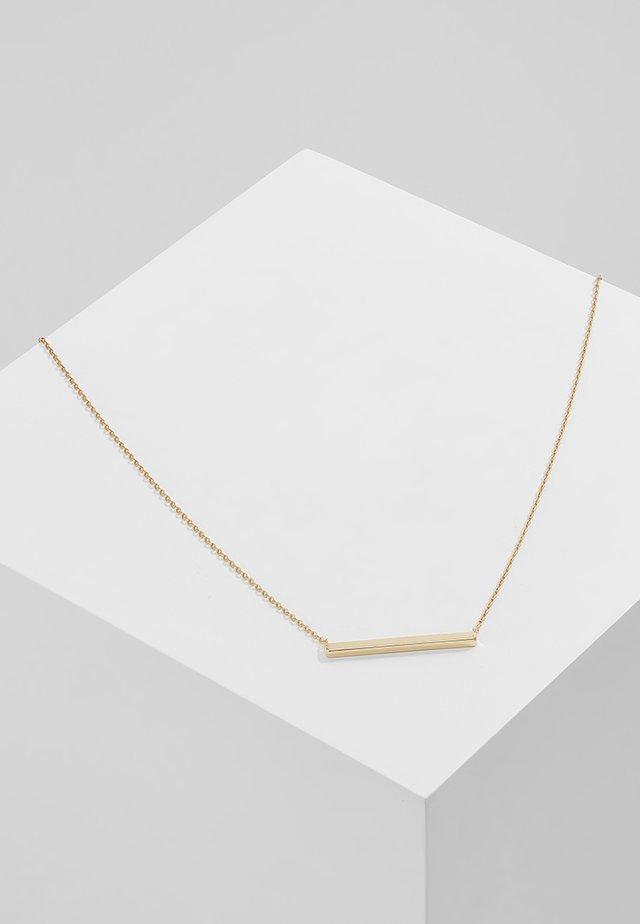 HORIZONTAL BAR SHORT - Halskæder - pale gold-coloured