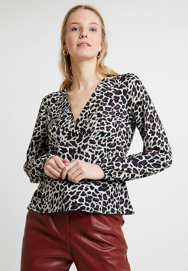 LONGSLEEVE BLOUSE WITH GATHER - Camicetta - multi-coloured