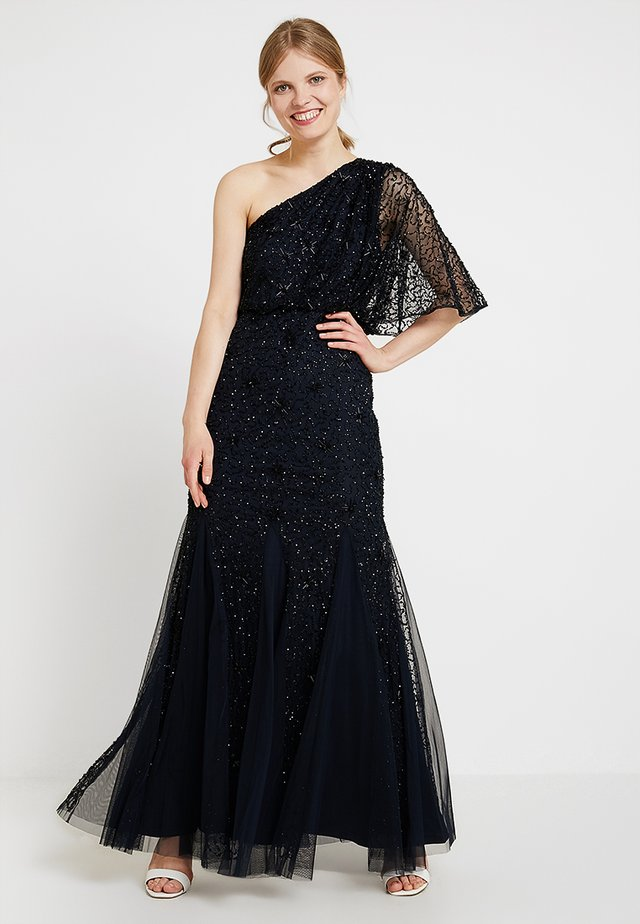 BEADED LONG DRESS - Occasion wear - midnight/black