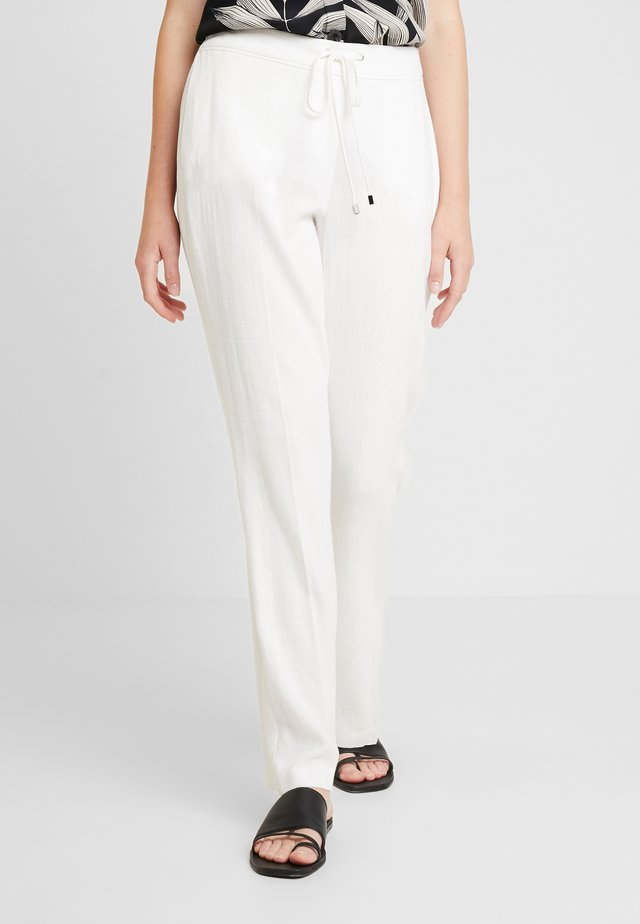 TIE FRONT TROUSER - Trousers - white