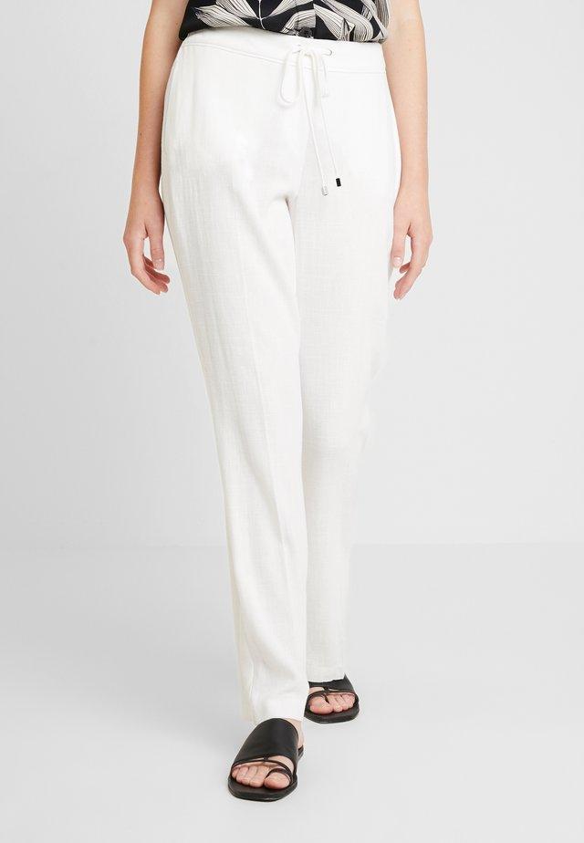 TIE FRONT TROUSER - Pantalones - white