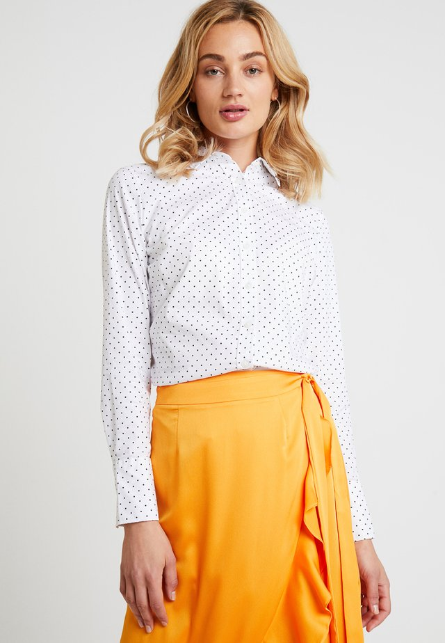 RILEY MICRO DOT - Button-down blouse - white