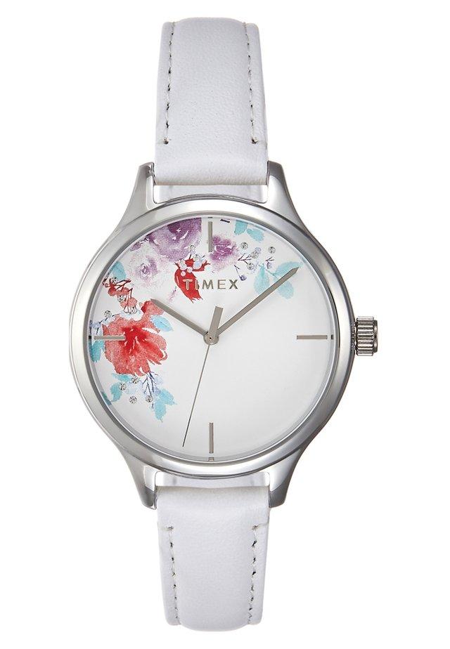 WOMEN'S TREND WITH SWAROVSKI STRAP DIAL - Horloge - white