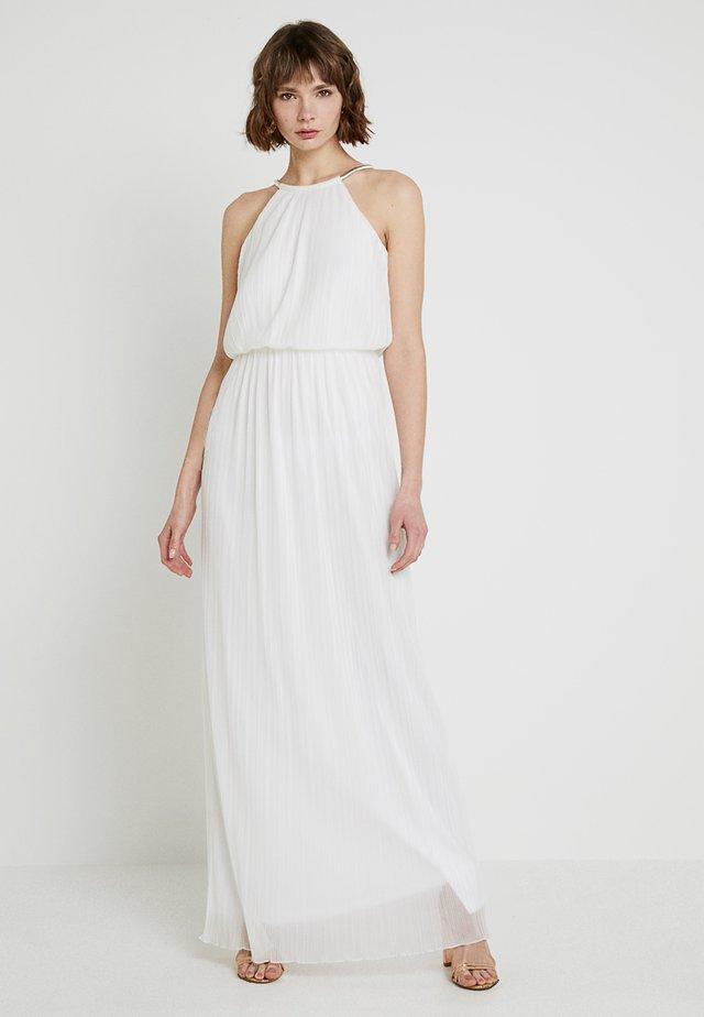 LONG DRESS WITH CHAIN - Abito da sera - cream