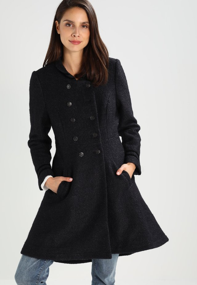 ANNABELL - Short coat - black melange
