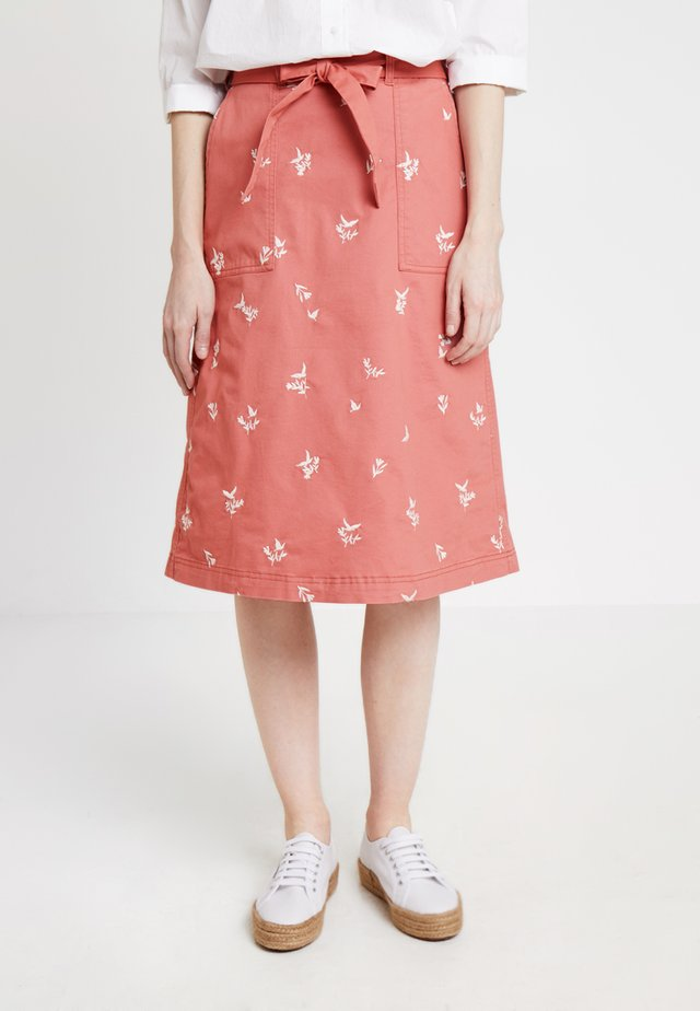SCENTFUL SKIRT - Spódnica trapezowa - washed pink