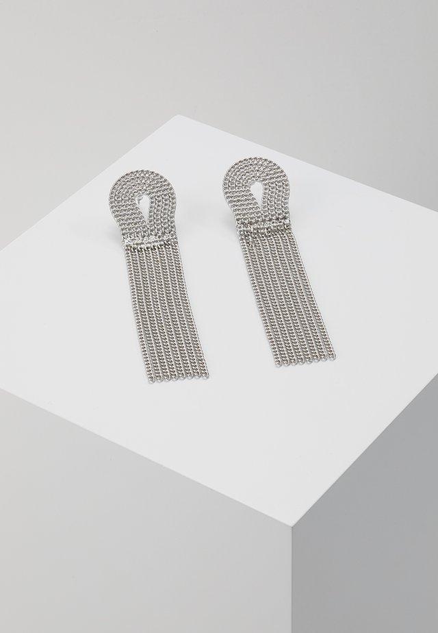 ROPE CHAIN DROP EARRING - Boucles d'oreilles - antique silver-coloured
