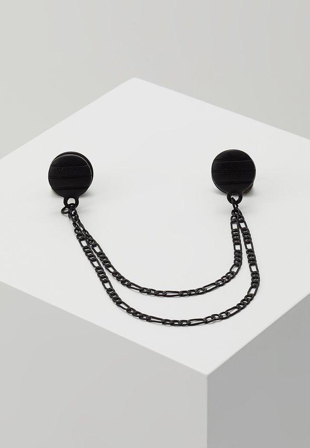 PINSTRIPE COLLAR TIP - Collar - black