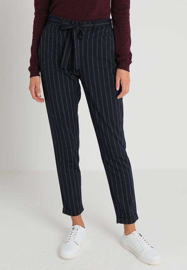 ULLA BELT PANTS - Trousers - midnight marine