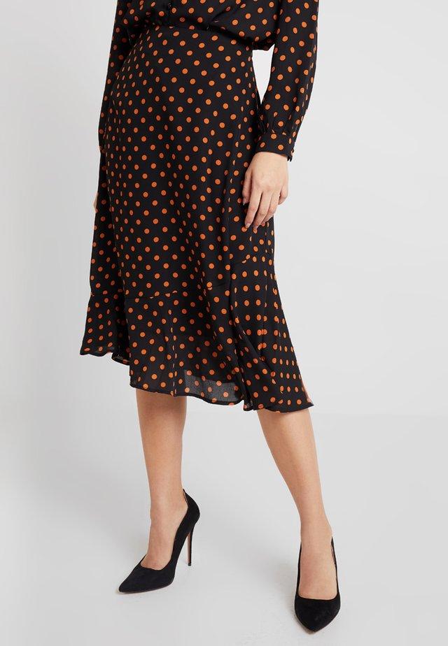 BXHOPE SKIRT - A-line skirt - black combi