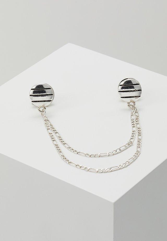 PINSTRIPE COLLAR TIP - Halsband - silver-coloured