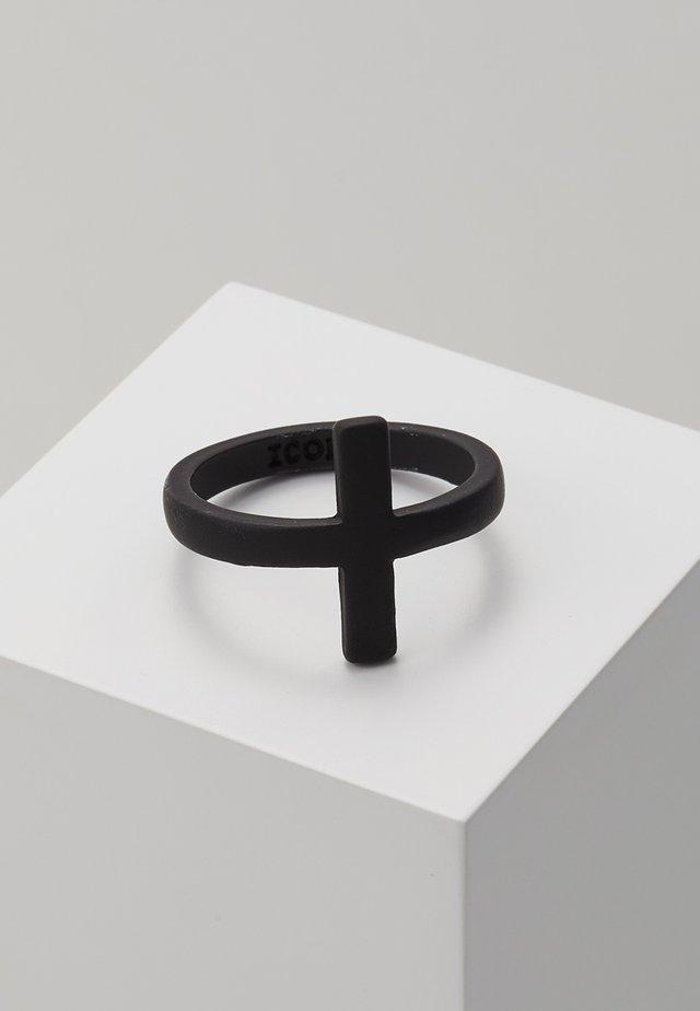 CROSS OVER RING - Ringe - black