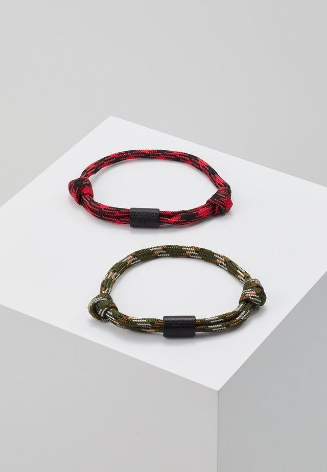 YACHT HARBOUR BRACELET - Armband - khaki/red