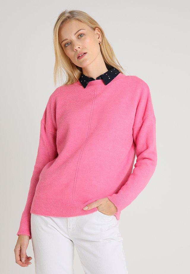 LANGARM - Strickpullover - candy pink melange