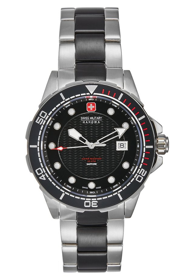 NEPTUNE DIVER - Horloge - silver-coloured/black