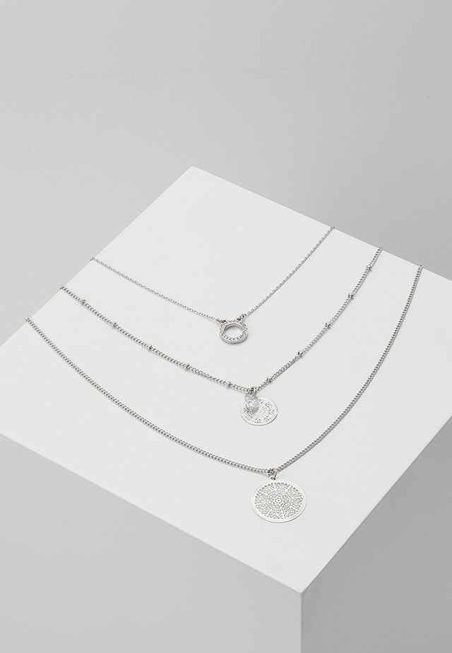 ONLFLARA 3 CHAIN NECKLACE 2 PACK - Halskæder - silver-coloured