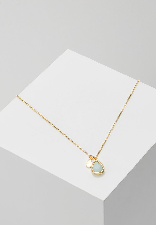 TEARDROP DITSY NECKLACE - Ketting - pale gold-coloured