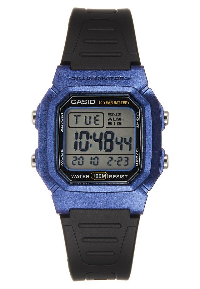 Reloj digital - schwarz/blau