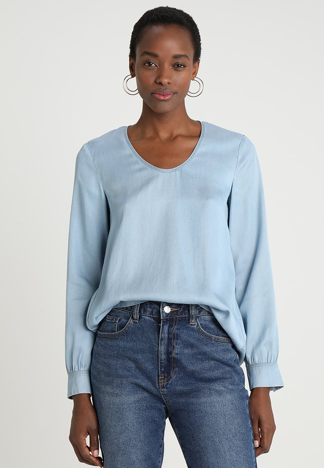 BLOUSE LONGSLEEVED - Bluse - tencel denim