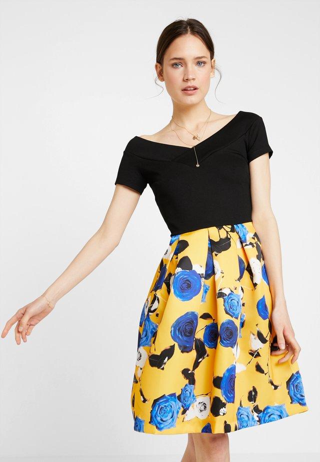 Jerseykleid - blue/yellow