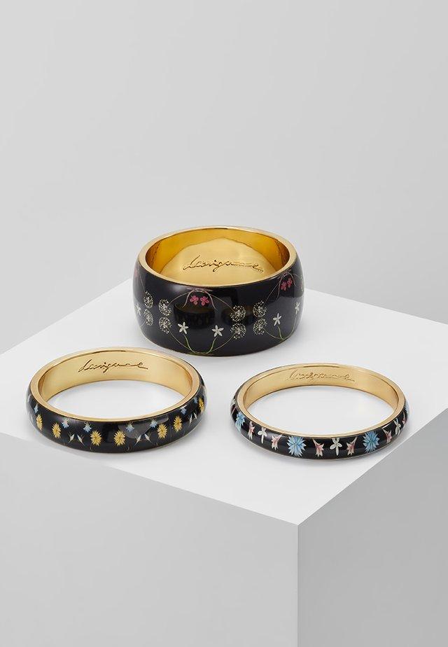PULS ROMANTIC FLOWERS 3 PACK - Bracelet - black
