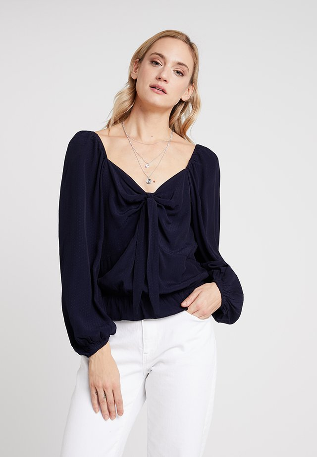 ELLY CROPPED BLOUSE - Blouse - royal navy blue