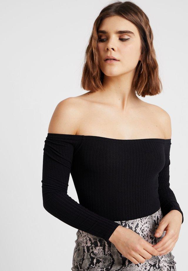 BARDOT BODY - T-shirt à manches longues - black