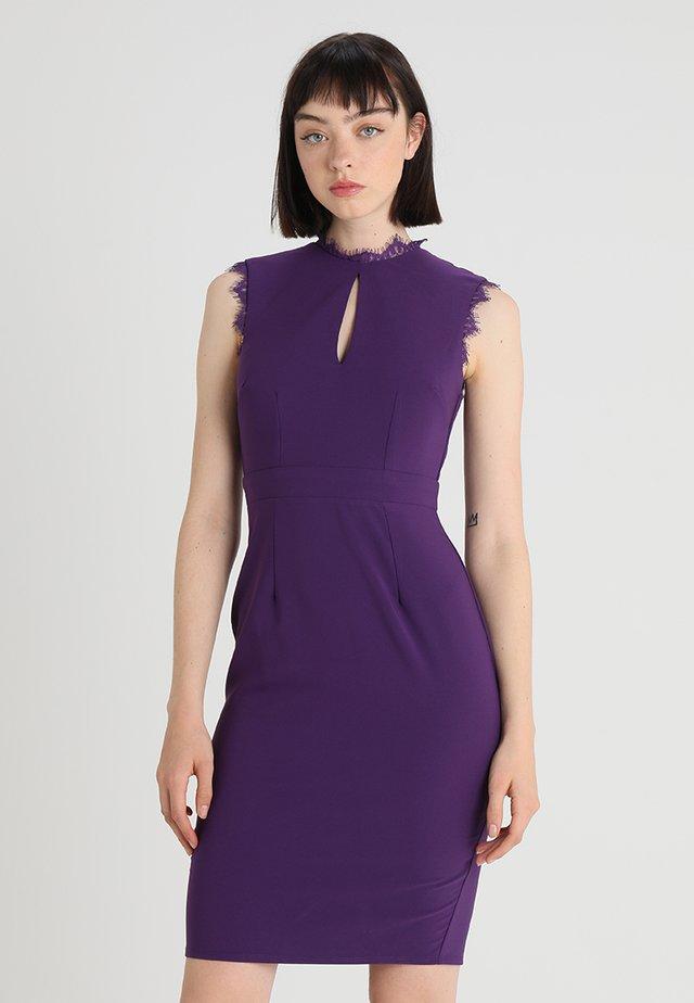 Etuikleid - purple