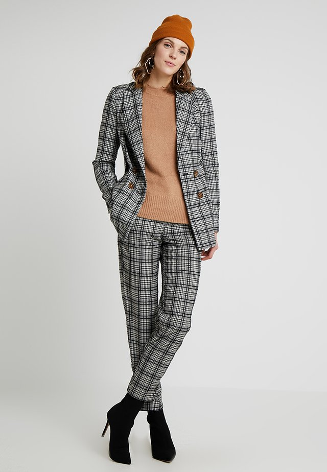 MONO CHECK JACKET - Blazer - black/white