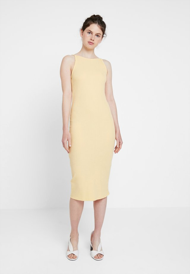 STRAPPY VARY - Shift dress - yellow