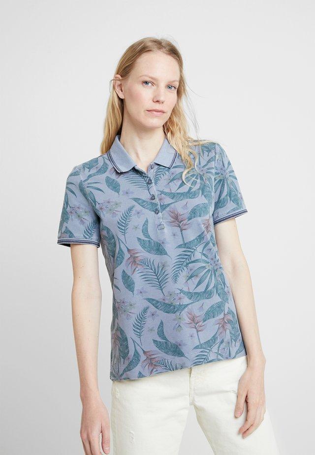 Poloshirt - grey/blue