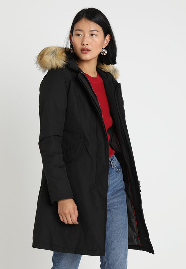 FUNDY BAY LONG - Down coat - black