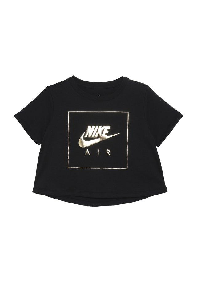 TEE CROP AIR - T-Shirt print - black