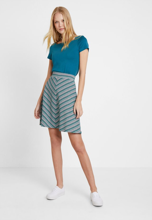 SKIRT EASY - A-line skirt - black/grey
