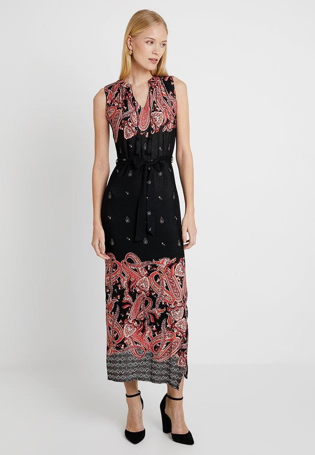 PAISLEY BORDER - Maxikleid - black