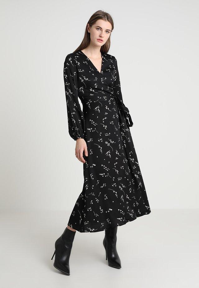 PRINTED WRAP  - Vestito lungo - black