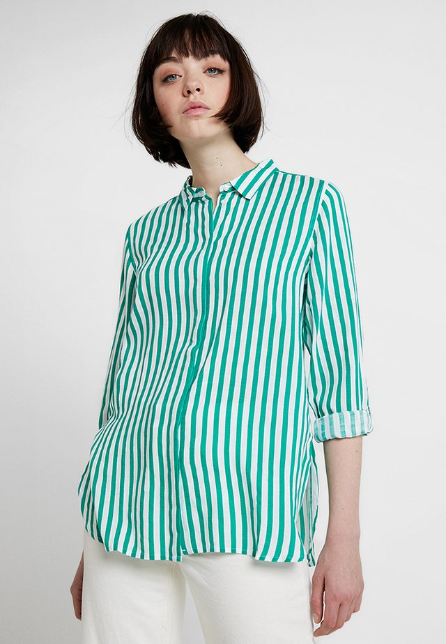 FABIANNE STRIPE - Button-down blouse - fresh green combi