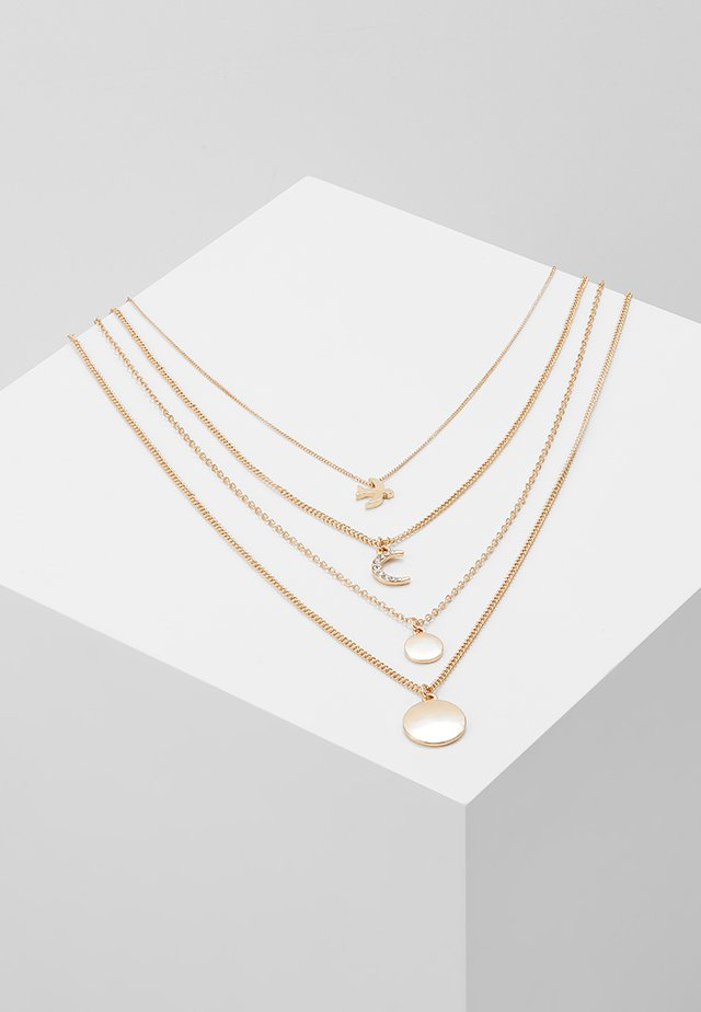 ONLANNO 4 CHAIN NECKLACE  - Smykke - gold-coloured