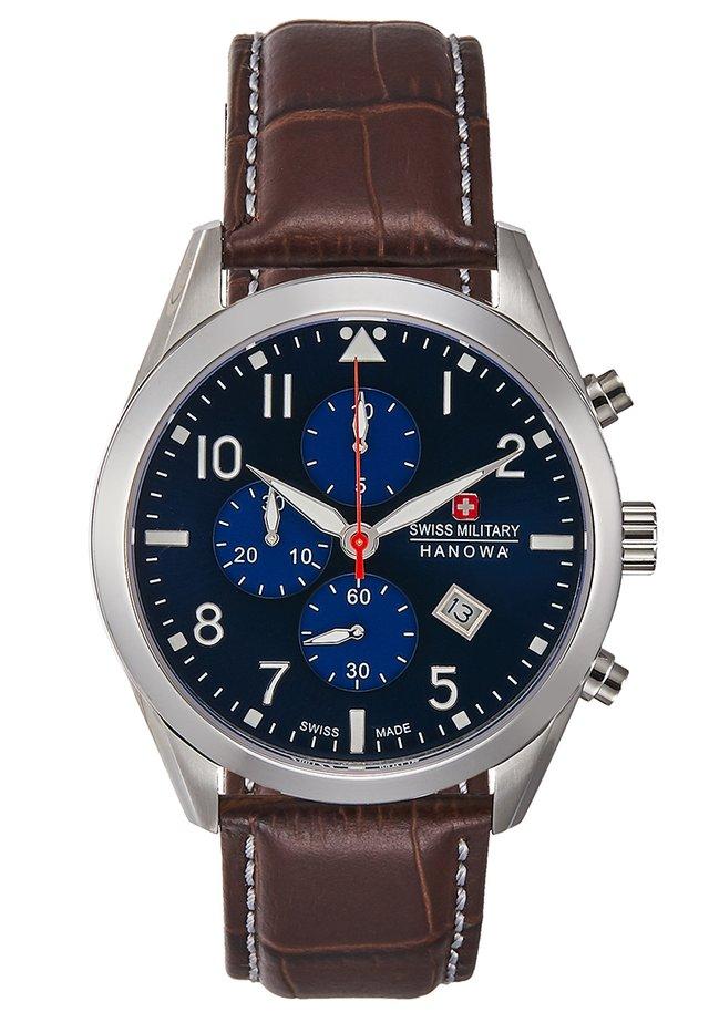 HELVETUS - Chronograph watch - brown/blue