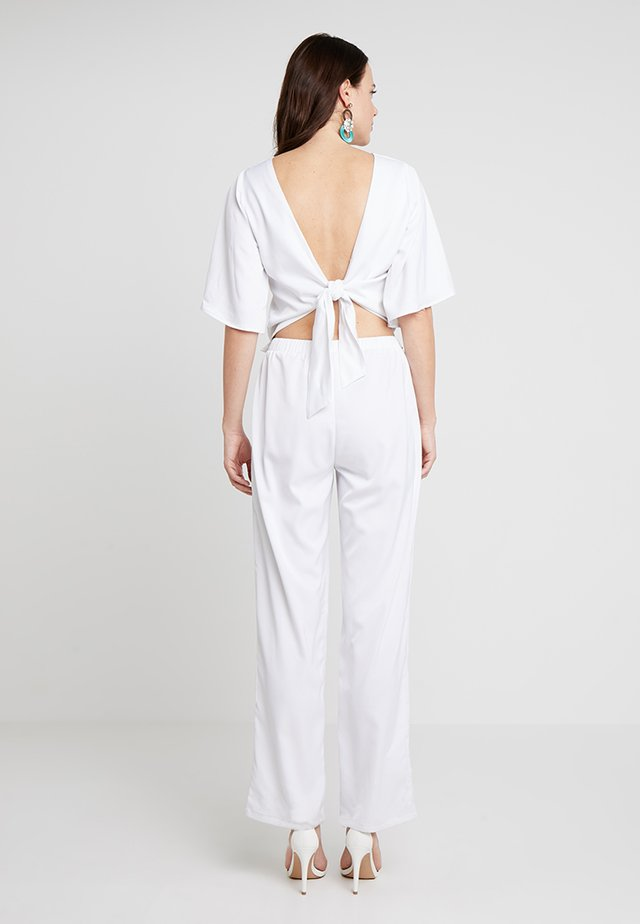 JASMINE EVENING LONG 2-IN-1 - Trousers - optical white