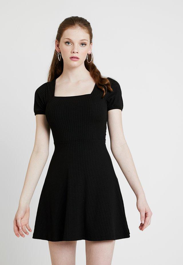 SKATER - Jersey dress - black