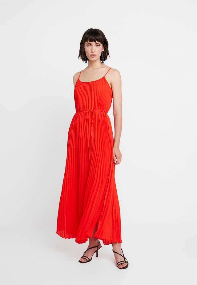PLEATED SOLID - Maxi dress - hot red